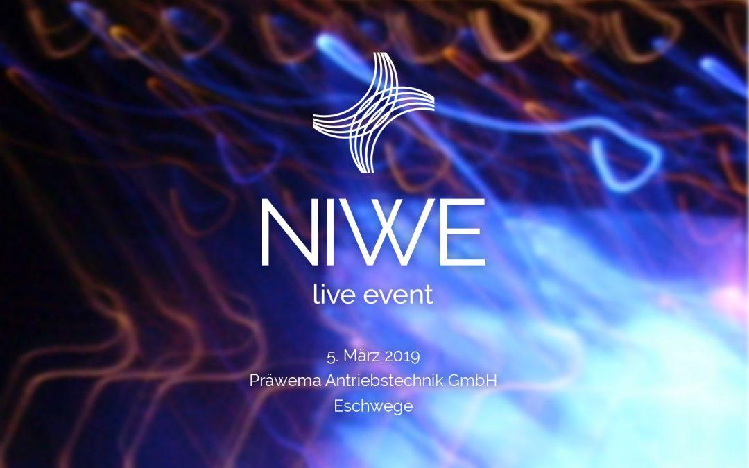 Einladung zum exklusiven NIWE live Event 2019 bei Präwema Antriebstechnik GmbH