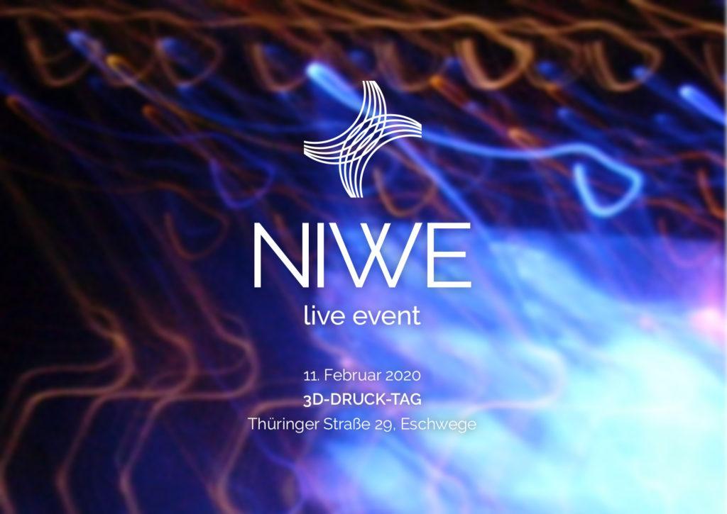 """Einladung: 3D-Druck-Tag der """"NIWE – das Netzwerk"""" am 11. Februar 2020 in Eschwege"""